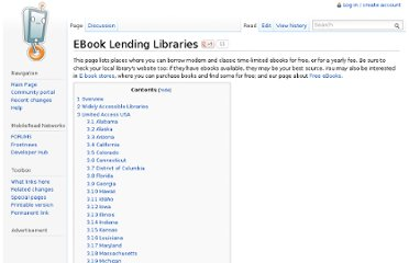 http://wiki.mobileread.com/wiki/EBook_Lending_Libraries