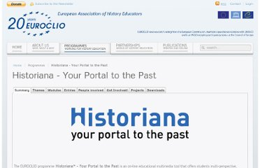 http://www.euroclio.eu/new/index.php/work/historiana