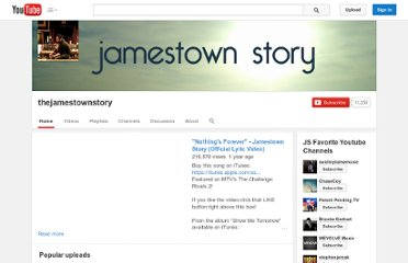 http://www.youtube.com/user/thejamestownstory