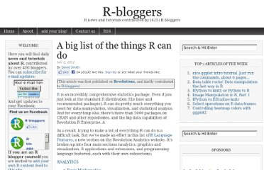 http://www.r-bloggers.com/a-big-list-of-the-things-r-can-do/