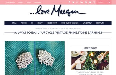http://www.lovemaegan.com/2012/02/10-ways-to-easily-upcycle-vintage.html