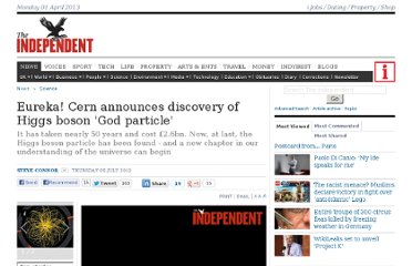 http://www.independent.co.uk/news/science/eureka-cern-announces-discovery-of-higgs-boson-god-particle-7907677.html