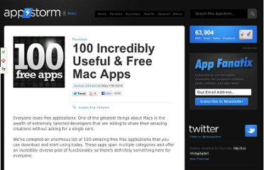 http://mac.appstorm.net/roundups/100-incredibly-useful-free-mac-apps/