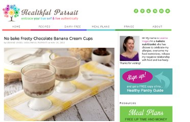http://www.healthfulpursuit.com/2012/05/no-bake-frosty-chocolate-banana-cream-cups/