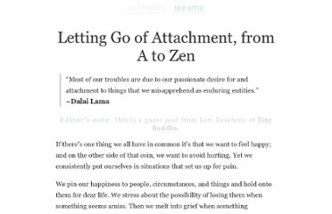 http://zenhabits.net/zen-attachment/