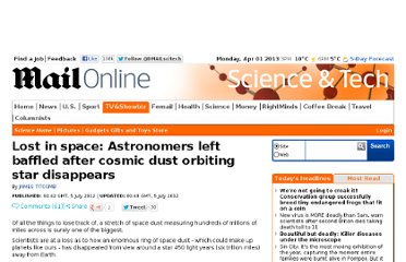 http://www.dailymail.co.uk/sciencetech/article-2169000/Disappearance-space-dust-orbiting-sun-like-star-baffles-astronomers.html