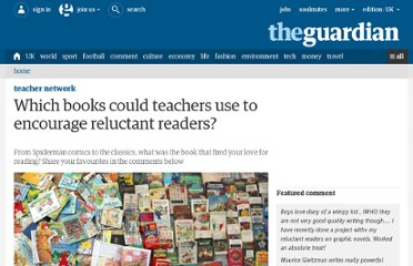 http://www.guardian.co.uk/teacher-network/2012/jul/05/recommend-books-boys-reading