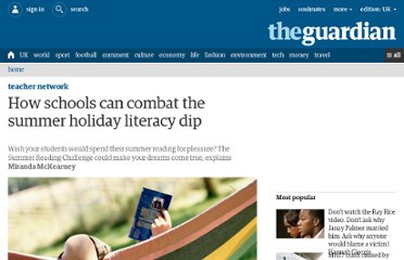 http://www.guardian.co.uk/teacher-network/2012/jul/05/summer-reading-challenge