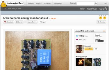 http://www.instructables.com/id/Arduino-home-energy-monitor-shield/