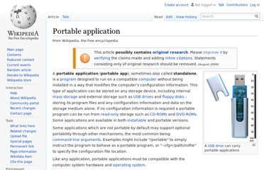 http://en.wikipedia.org/wiki/Portable_application