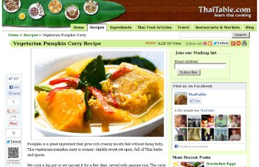 http://www.thaitable.com/thai/recipe/vegetarian-pumpkin-curry