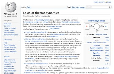 http://en.wikipedia.org/wiki/Laws_of_thermodynamics