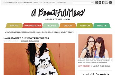 http://www.abeautifulmess.com/2012/02/hand-stamped-diy-pony-print-dress.html