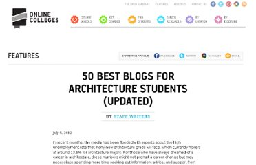 http://www.onlinecolleges.net/2012/07/05/50-best-blogs-for-architecture-students-updated/