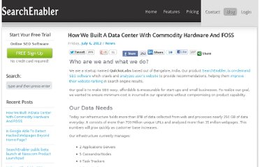 http://www.searchenabler.com/blog/build-your-own-data-center/