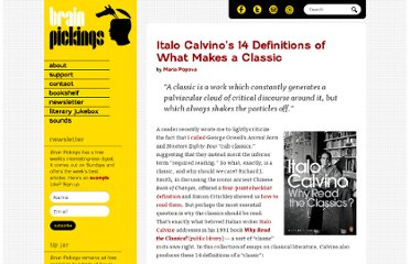 http://www.brainpickings.org/index.php/2012/07/06/italo-calvinos-14-definitions-of-a-classic/