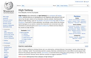 http://en.wikipedia.org/wiki/High_fantasy