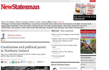 http://www.newstatesman.com/blogs/politics/2012/07/creationism-and-political-power-northern-ireland