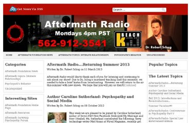 http://aftermath-surviving-psychopathy.org/radio/