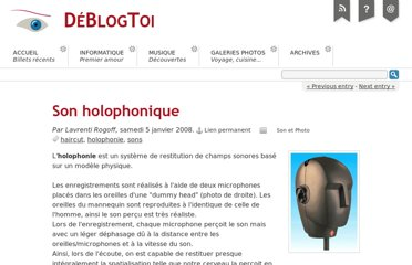 http://www.deblogtoi.com/index.php?post/2008/01/05/Son-holophonique