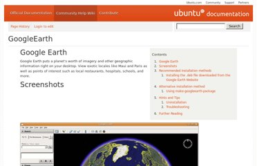 https://help.ubuntu.com/community/GoogleEarth