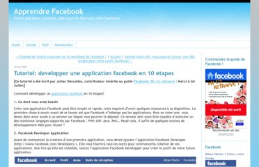 http://facebook.typepad.com/faceblog/2009/04/tutoriel-developper-une-application-facebook-en-10-etapes.html