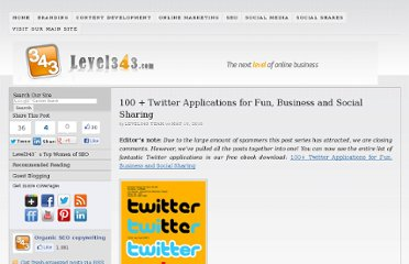 http://level343.com/article_archive/2010/05/10/100-twitter-applications-for-fun-business-and-social-sharing/