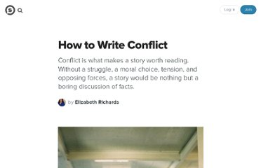 http://suite101.com/article/how-to-write-conflict-a45359