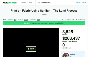 http://www.kickstarter.com/projects/lumi/print-on-fabric-using-sunlight-the-lumi-process
