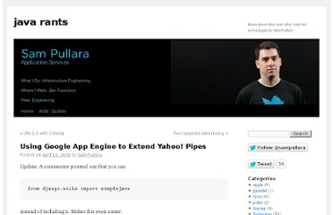 http://www.javarants.com/2008/04/13/using-google-app-engine-to-extend-yahoo-pipes/
