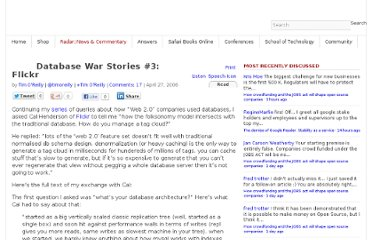 http://radar.oreilly.com/2006/04/database-war-stories-3-flickr.html