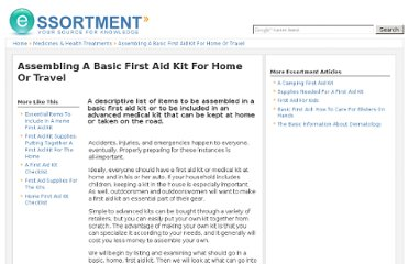 http://www.essortment.com/assembling-basic-first-aid-kit-home-travel-37843.html