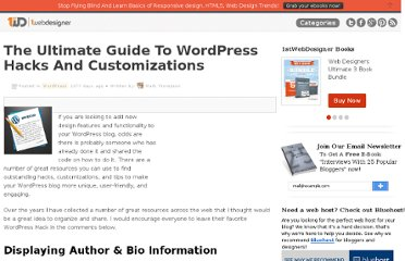 http://www.1stwebdesigner.com/wordpress/ultimate-guide-wordpress-hacks-customizations/