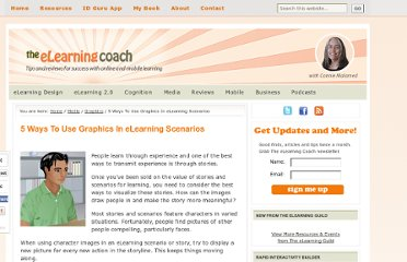 http://theelearningcoach.com/media/graphics/graphics-for-elearning-scenarios/