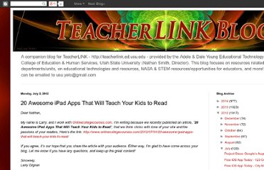 http://teacherlinkyetc.blogspot.com/2012/07/20-awesome-ipad-apps-that-will-teach.html