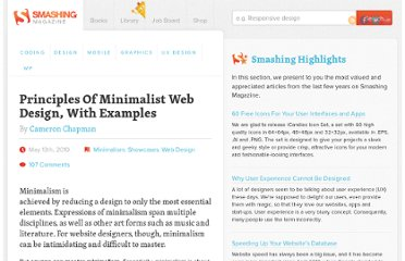 http://www.smashingmagazine.com/2010/05/13/principles-of-minimalist-web-design-with-examples/