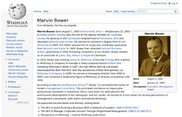 http://en.wikipedia.org/wiki/Marvin_Bower