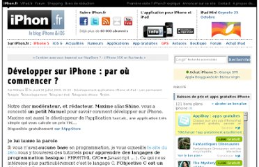 http://www.iphon.fr/post/2009/07/30/Developper-sur-iPhone-:-par-ou-commencer