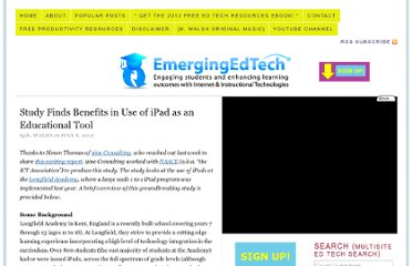 http://www.emergingedtech.com/2012/07/study-finds-benefits-in-use-of-ipad-as-educational-tool/