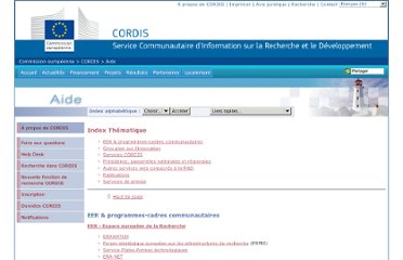 http://cordis.europa.eu/guidance/thematic-index_fr.html