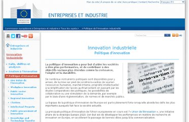 http://ec.europa.eu/enterprise/policies/innovation/policy/index_fr.htm