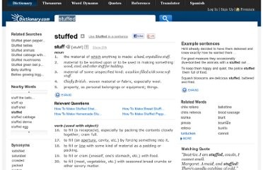 http://dictionary.reference.com/browse/stuffed
