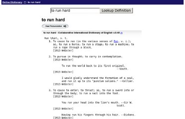 http://onlinedictionary.datasegment.com/word/to+run+hard