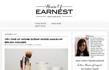 http://www.houseofearnest.com/try-this-at-home-scrap-wood-make-up-brush-holder/