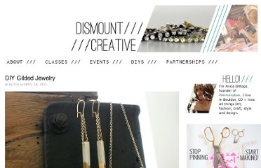 http://www.dismountcreative.com/diy-gilded-jewelry