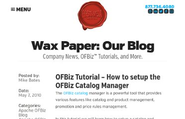 http://www.hotwaxmedia.com/apache-ofbiz-blog/ofbiz/ofbiz-tutorial-how-to-setup-the-ofbiz-catalog-manager