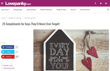 http://www.lovepanky.com/women/attracting-and-dating-men/compliments-for-guys