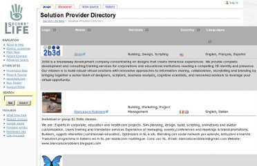http://wiki.secondlife.com/wiki/Solution_Provider_Directory