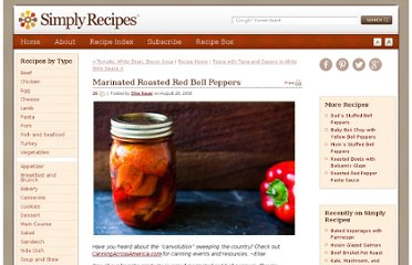http://www.simplyrecipes.com/recipes/marinated_roasted_red_bell_peppers/
