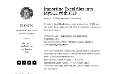 http://rackerhacker.com/2008/11/07/importing-excel-files-into-mysql-with-php/